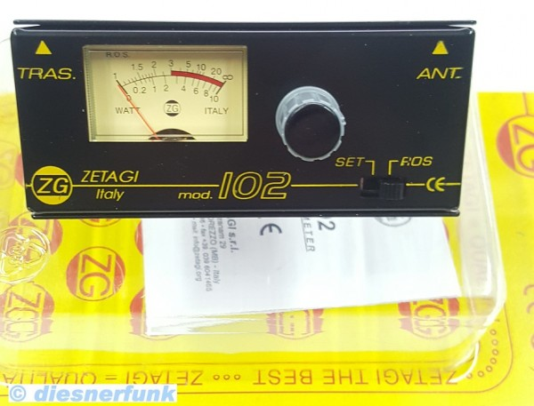 Zetagi 102 SWR Meter 3-200Mhz KW , CB Funk & VHF