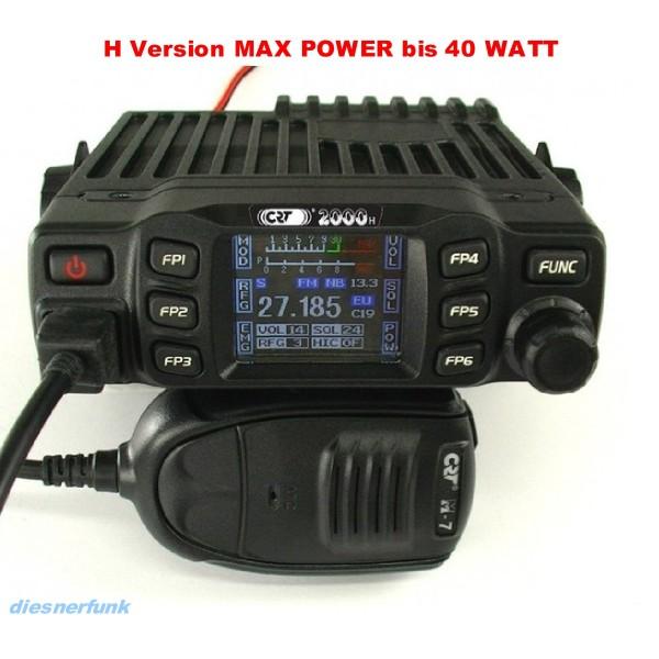 CRT 2000H Multi CB Funkgerät mit TFT Farbdisplay Mod's 45 Watt
