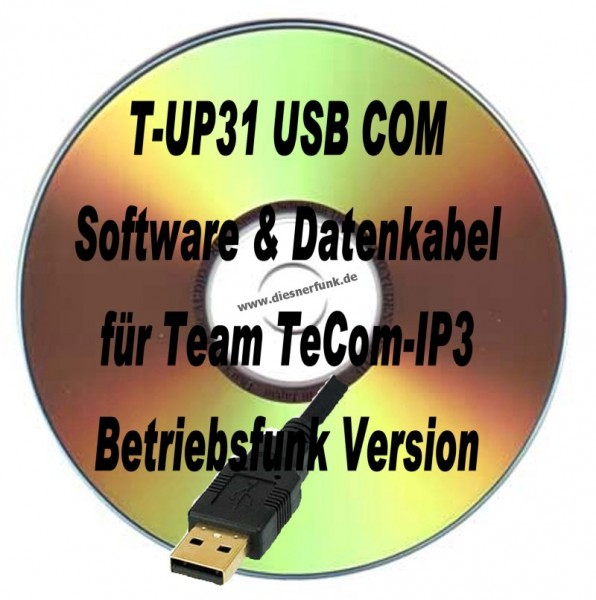 TEAM T-UP31 Programmierkabel & Software für TeComIP3 Betriebsfun