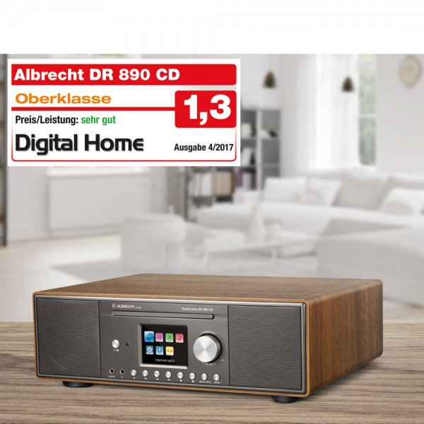 Albrecht DR 890 CD DAB+/UKW/Internet/CD Walnus B-Ware