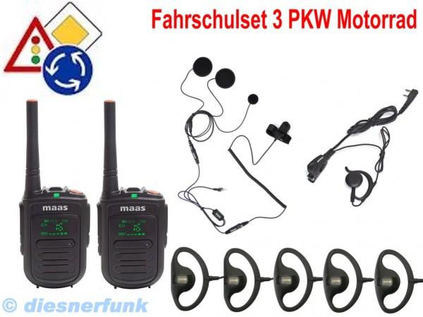 Fahrschulfunk MAAS PT-120 Set3 PKW-Motorrad & Motorrad sorglos