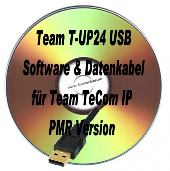 TEAM T-UP24 USB Programmierkabel & Software für Team TeComIP PMR