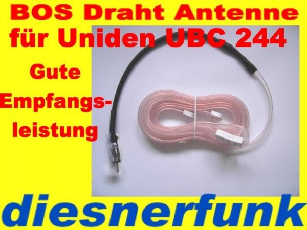 4m-Band BOS Polizeifunk Antenne mit UBC 244 Adapter 1,7m
