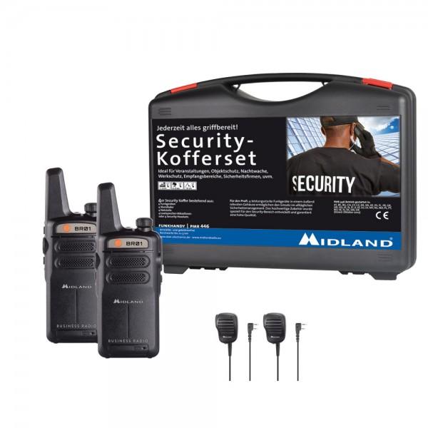 2er Security Kofferset MIDLAND BR01 inkl. SM 500-K Lautsprechermikrofone