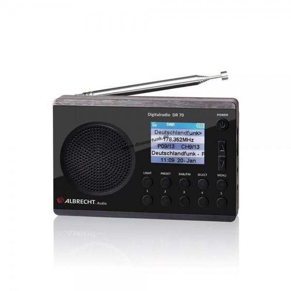 Albrecht DR 70 Digitalradio, DAB+/UKW Farbdisplay, 230V und Batt