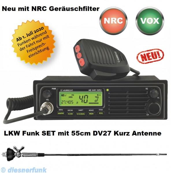 Albrecht AE 6491 NRC VOX CB Funkgerät & 55cm DV27 Antenne