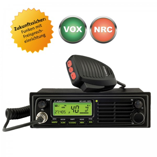 Albrecht AE 6491 NRC VOX mit Freisprechfunktion CB Funkgerät DIN