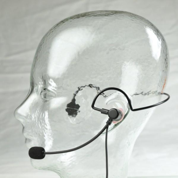 HS 02 A Professionelles Headset - mit Schwanenhals-Mikrofon und PTT-Taste
