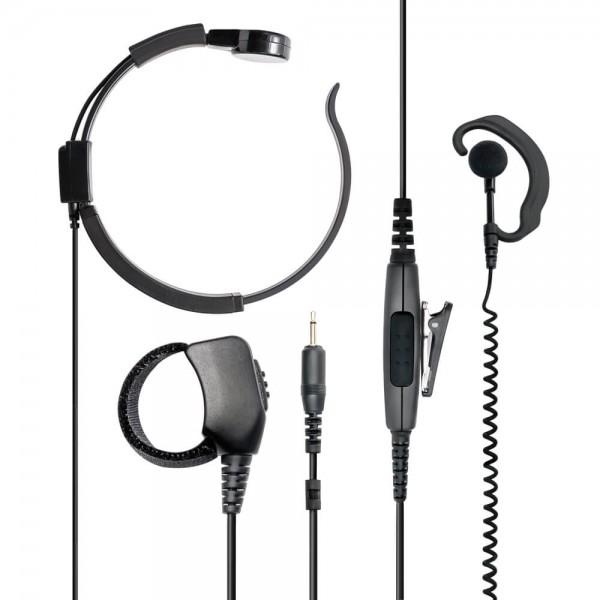 AE 38 Kehlkopfmikrofon/Hörer VOX/PTT S-Norm L-Stecker