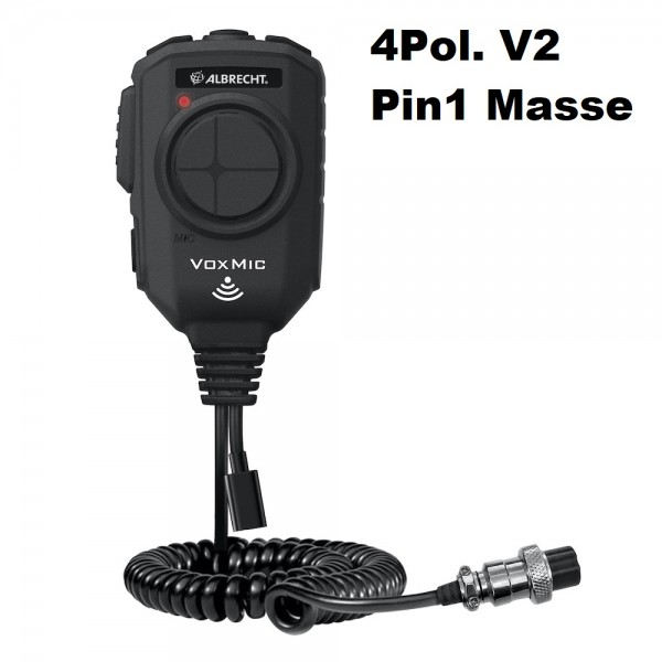 Albrecht VOX Mikrofon 4-polig V2 ANC mit Batterie Pin1 Masse