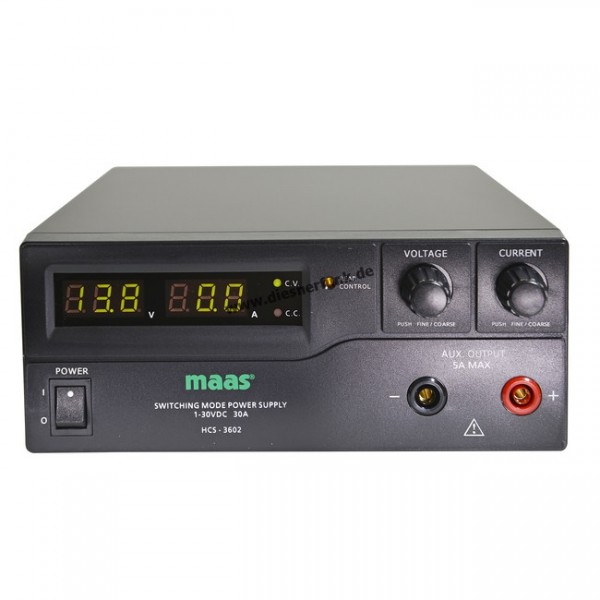 MAAS HCS-3602 Schaltnetzteil 1-30V DC / 0-30 A
