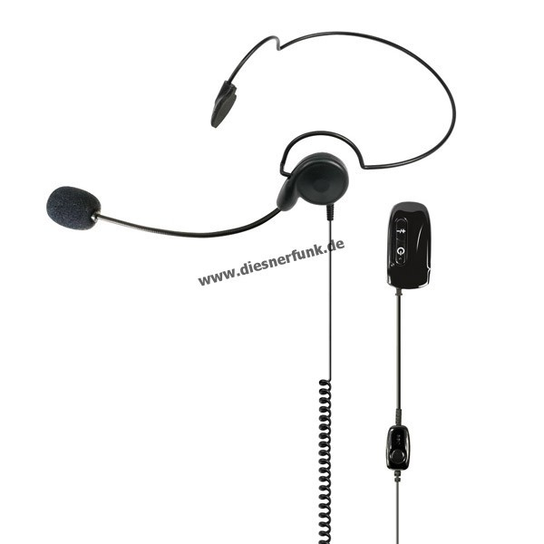 MIDLAND WA29 Bluethooth Headset Nackenbügel PTT-Taste für Dongle