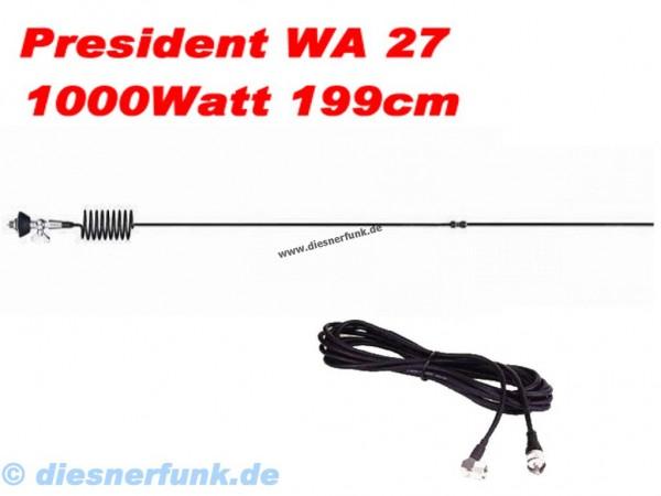 President WA-27 CB Funk Antenne für Reichweitenjäger Länge 1990m