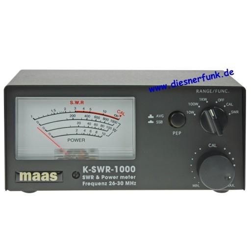 K SWR-1000 / KPO KP-27 SWR-Power Meter 1000 Watt