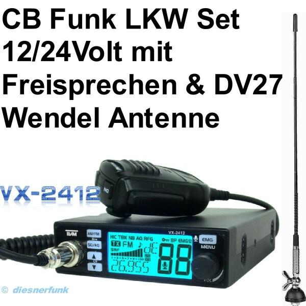 TEAM VX-2412 CB Funkgeräte SET & DV27 Antenne
