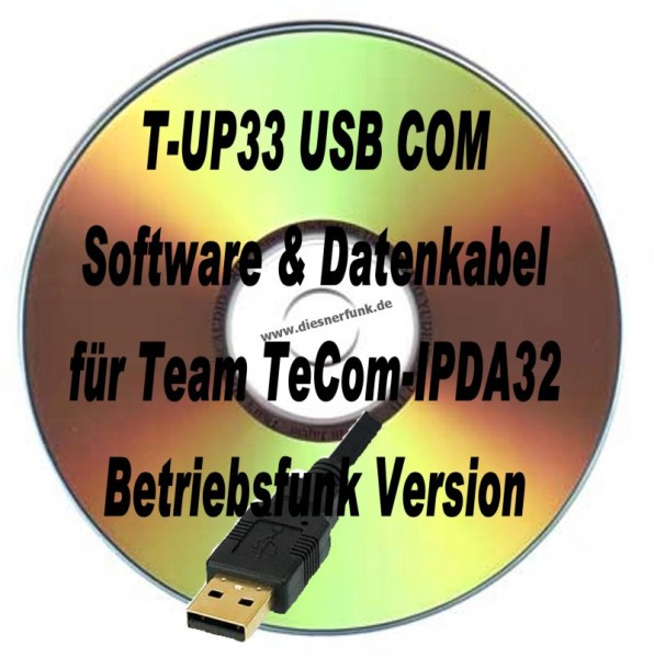 TEAM T-UP33 Programmierkabel & Software für TeComIPDA32 Betriebs