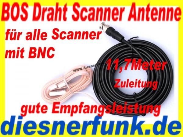 4m-Band BOS Polizeifunk Antenne Zimmerantenne 11,7m