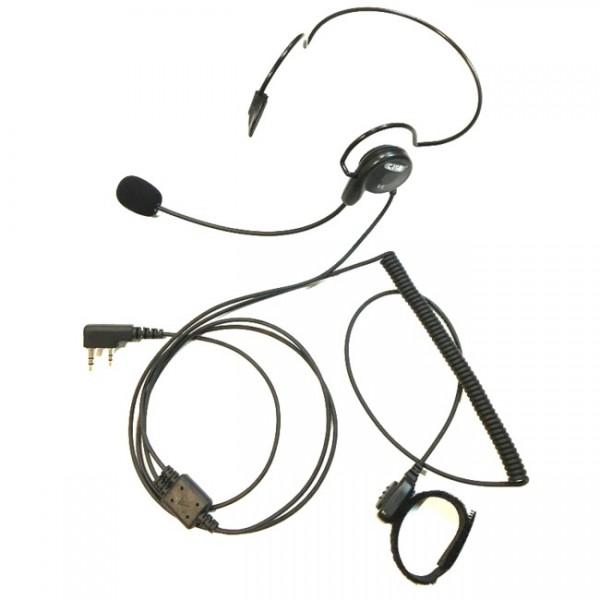 CRT Ultraleichte Kopfhörer-Mikrofon-Kombination VL mit Finger PTT