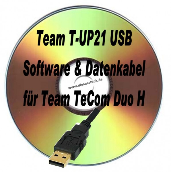 TEAM T-UP21 USB Programmierkabel & Software für Team TeCom Duo H