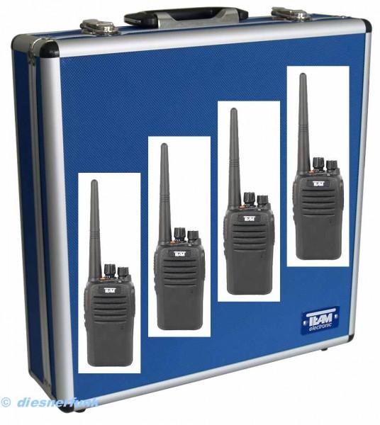 4er Koffer Set Team TeCom IP3 VHF Betriebsfunkgerät IP67 Schutz