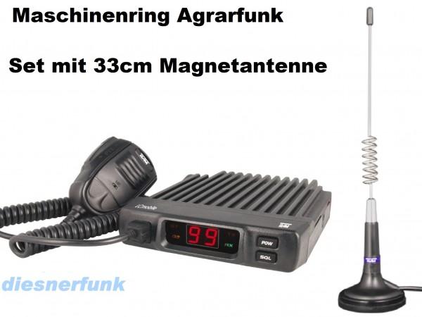 Team LCmobile Agrarfunkgerät Maschinenring VHF mit 33cm Magnet Antenne