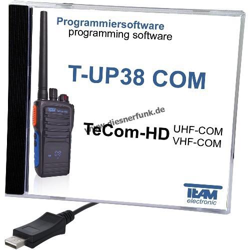 TEAM T-UP38 Programmierkabel & Software für TEAM HD Betriebsfunk