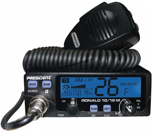 President RONALD 10/12M 50Watt Amateurfunkgerät