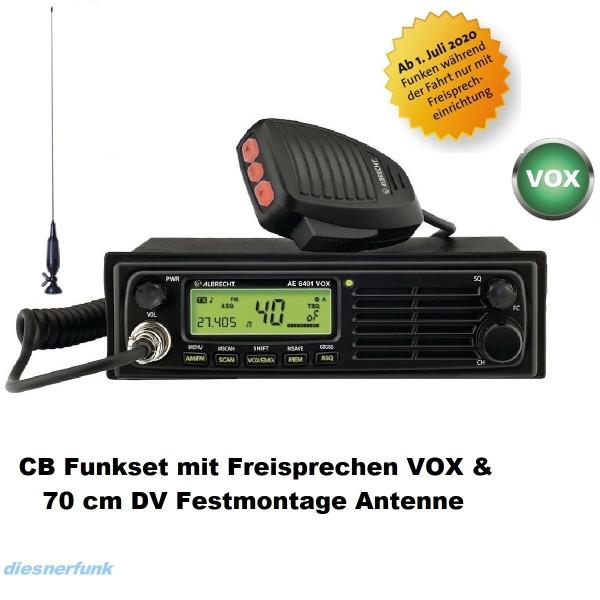 CB FUNK SET ALBRECHT AE 6491 VOX & 70cm DV Antenne