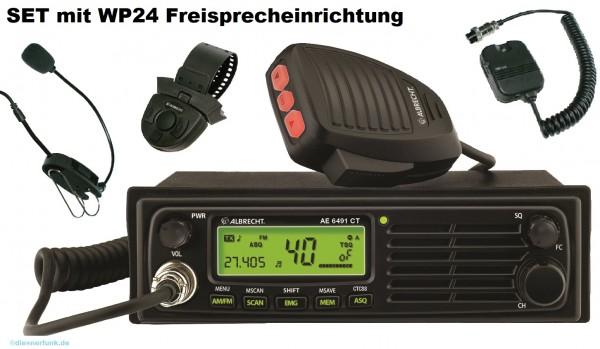 Albrecht AE 6491 CT mit WP24 Freisprecheinrichtung CB Funkgerät