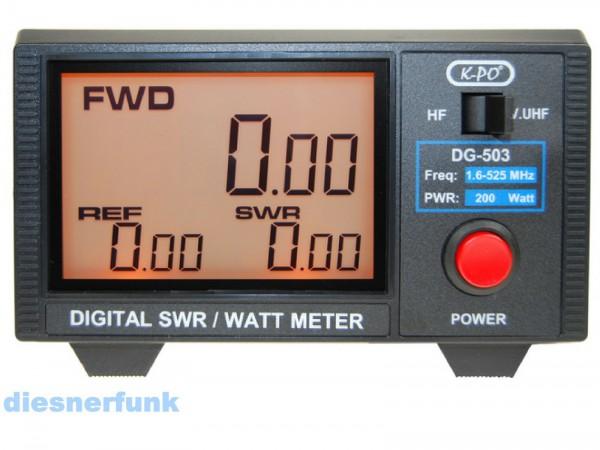 DG-503N SWR- & Power-Meter mit Digitalanzeige 1.6 - 525 MHz