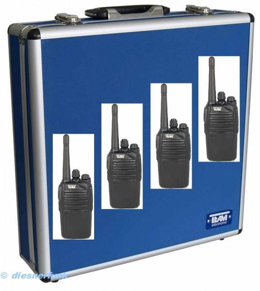 4er Koffer Set Team TeCom-LC UHF Betriebsfunkgerät 4Watt