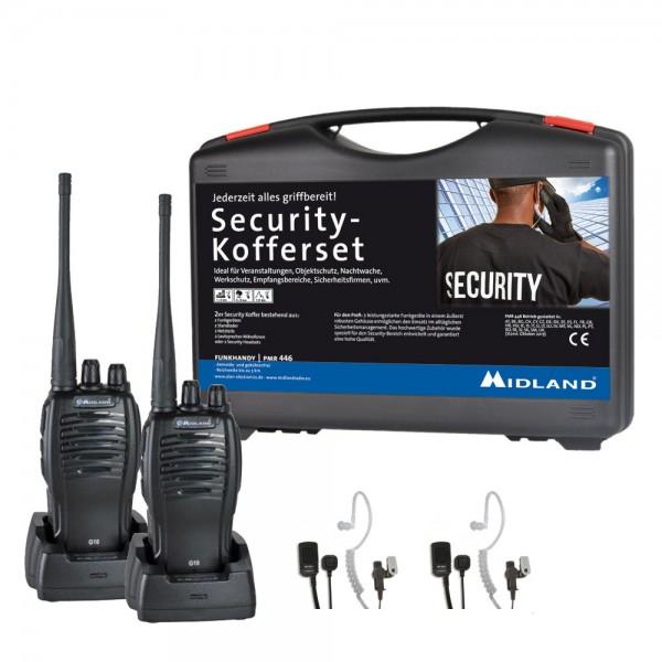 MIDLAND G10 PMR446 2er Security Kofferset AE 32-K