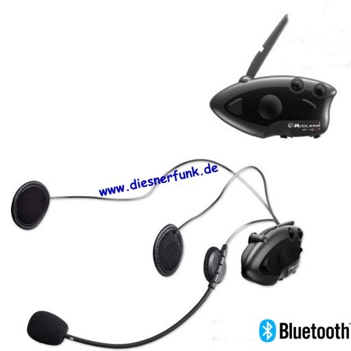 MIDLAND BT Next Single Bluetooth Headset Motorradhelme drahtlos