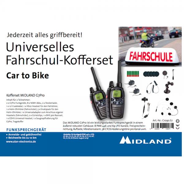 "Fahrschulkoffer Midland G7 Pro ""Auto zu Motorrad"""