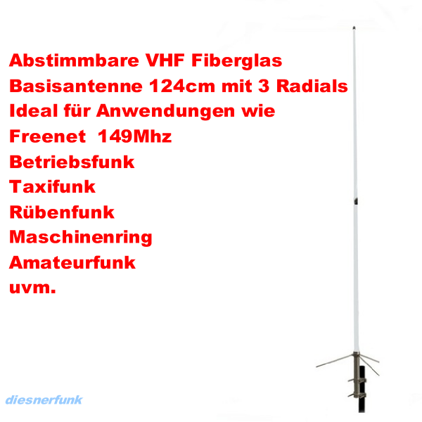 MAAS V-30 135-175 Basis Antenne 2m Band VHF Betriebsfunk Freenet