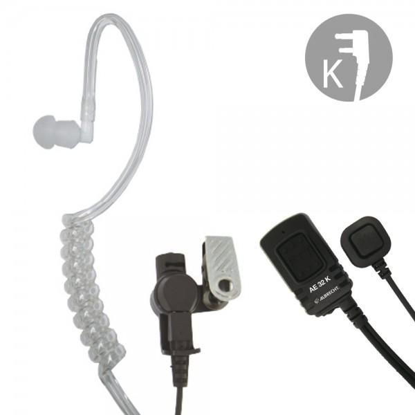 AE 32 K Security Headset mit Schallschlauch-Ohrhörer 2 PTT-Tasten