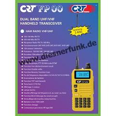 CRT FP 00 Dual Band VHF/UHF Handfunkgerät gelb