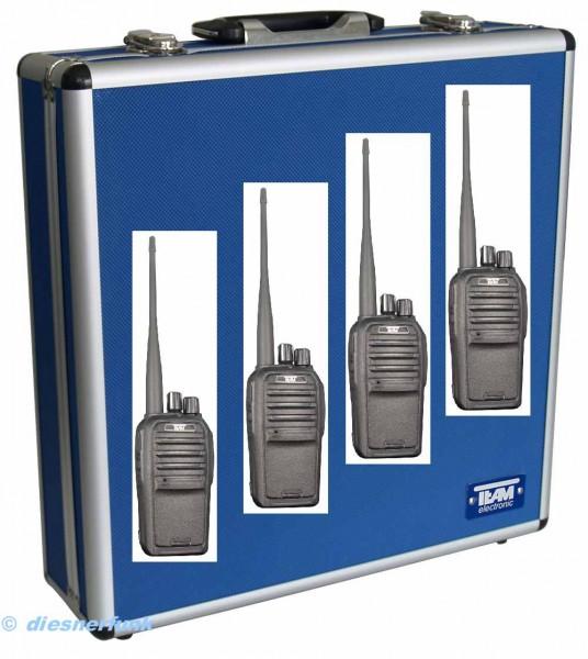 4er Koffer Set Team TeCom SL UHF Betriebsfunkgerät 450-470Mhz