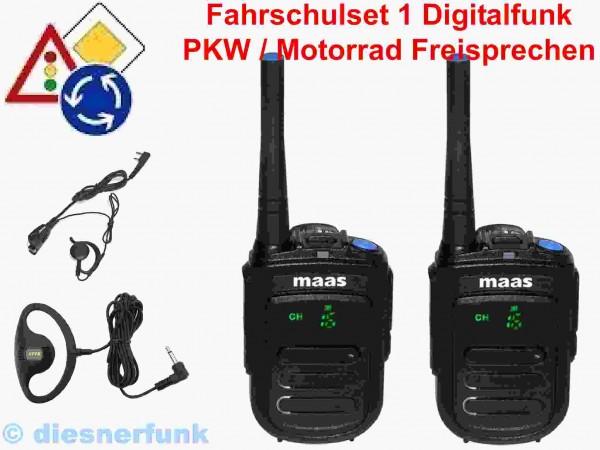 Fahrschulfunk digital MAAS PT-130 Set1 PKW-Motorrad
