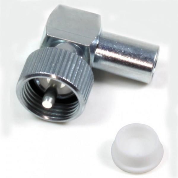 DV Winkel Stecker für DV Fuss neue Norm mit Stift ohne Adapterpin