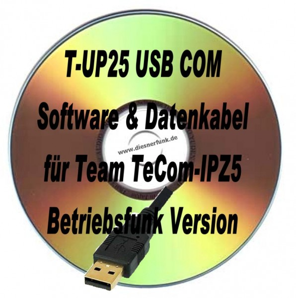 TEAM T-UP25 Programmierkabel & Software TeCom IPZ5 Betriebsfunk