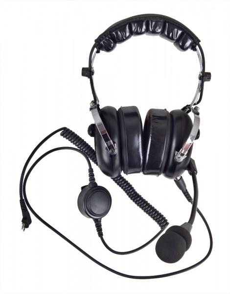 H&G-1000-M PROFI Kopfhörer mit flexiblem Rüsselmikrofon