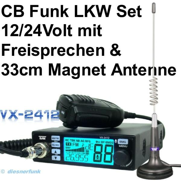 TEAM VX-2412 CB Funkgeräte SET & Magnet Antenne