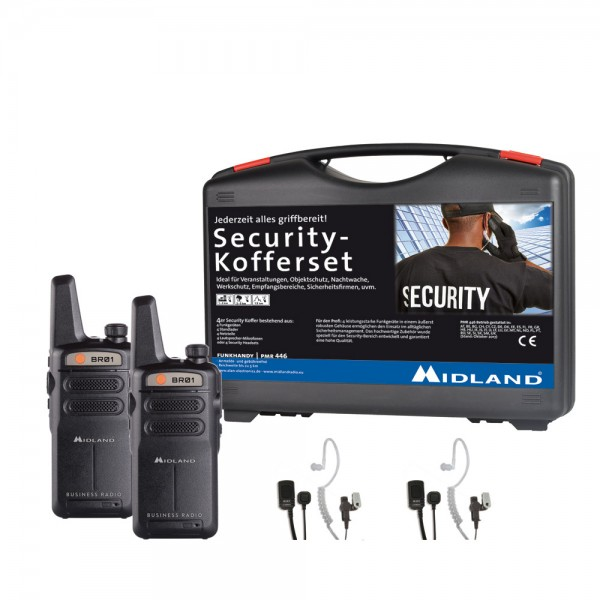 2er Security Kofferset MIDLAND BR01 inkl. AE 32-K Security Headsets
