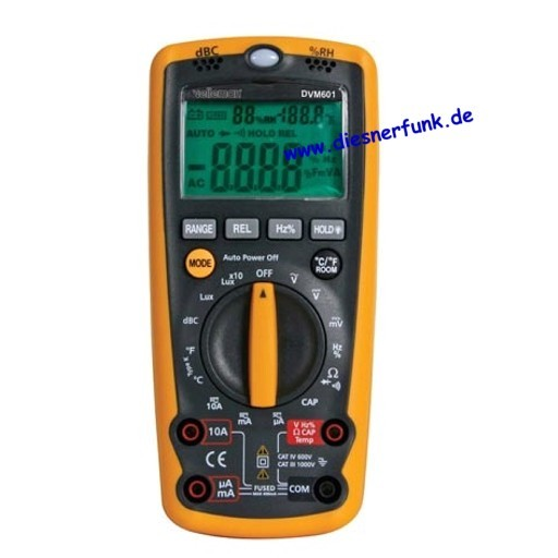 DIGITAL MULTIMETER 6 IN 1 das Multitalent Schall Licht DVM601