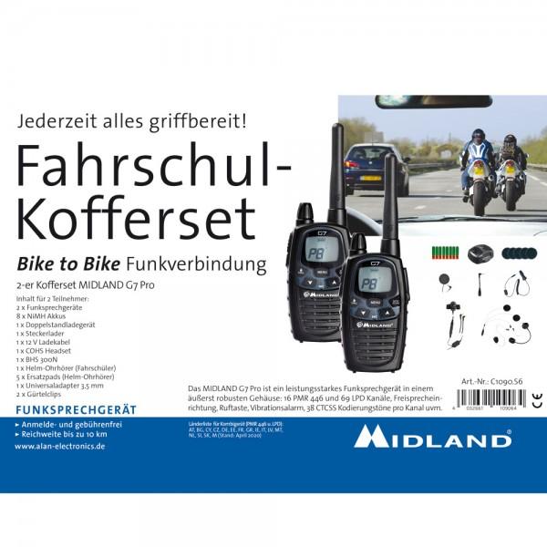Fahrschulkoffer Midland G7 Pro Motorrad zu Motorrad