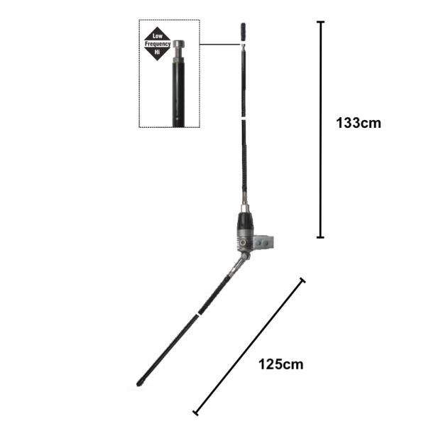 Mini Boomerang 27W Balkon & Stationsantenne 1/4 Lambda 133cm