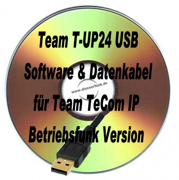 TEAM T-UP24 USB Programmierkabel & Software für Team TeComIP COM