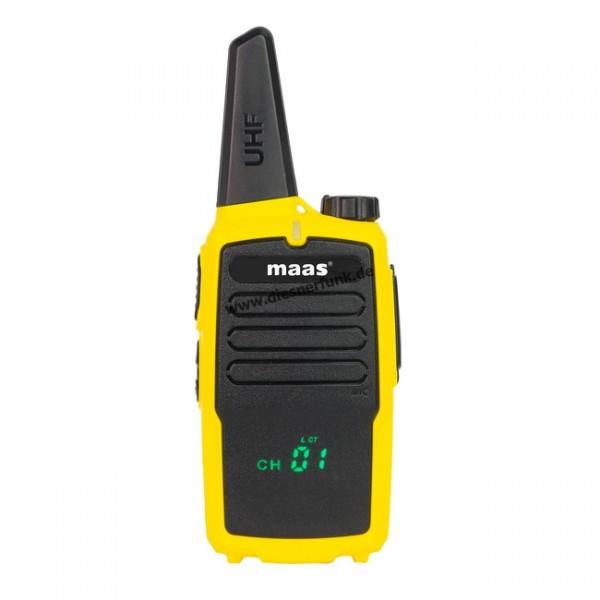 MAAS PT-100 -- GELB -- PMR-446 Handfunkgerät