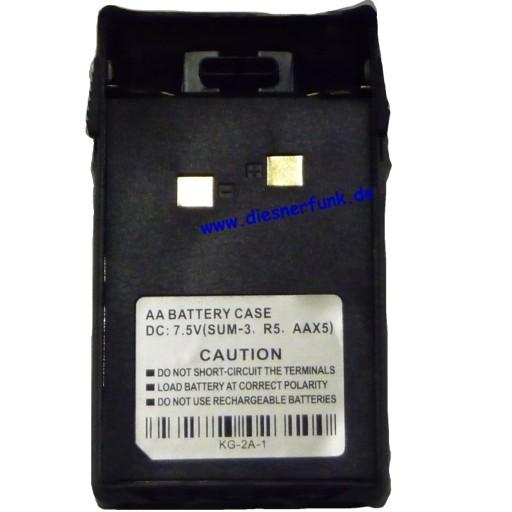 Batterieleergehäuse BAO-001 5x AA für Wouxun KG-UVD1P Maas Team